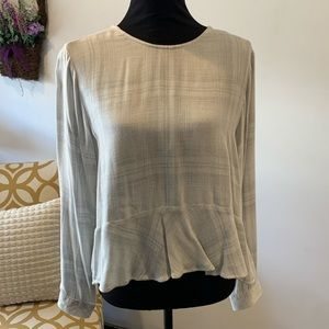 Cloth & Stone Anthropologie Button Back Peplum Top